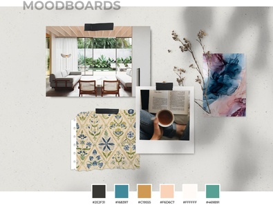 Setting up_Moodboard theme colors moodboard ecommerce illustration exploration ui ux design art