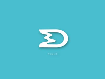 A+M+D logo bussines alphabet letter minimal illustration logos letter m letter d letter a monogram logo