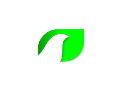 Bird+leaf logo peace circle minimal illustrator green logo bird leaf