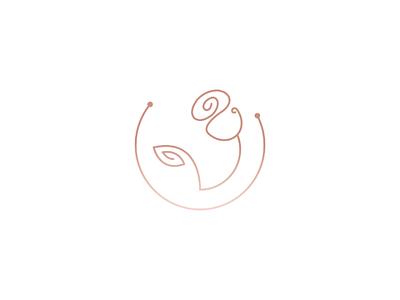 Rose logo creative illustration design minimalist minimal logos circle rose logo