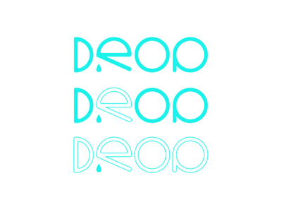 Drop packaging iphone letter typography caligraphy uidesign uiux ui illustration illustrator blue design logo drop