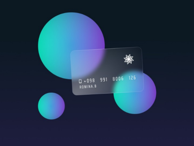 Glass card minimal illustration card style mockup business card abstract clean circles figma glass effect background blur glossy glass card card design appui 3d