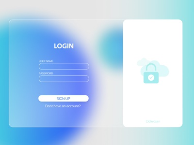 Glossy web design login page gradient android ios graphicdesign web design website design website web blur creative vector ui minimal illustration