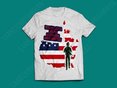 proud army son typography print design military father army t-shirt dad tshirt graphic design proud army son