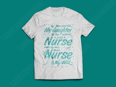 My daughter is just a nurse nurse nurse tshirt dad tshirt typography tshirts graphicdesign