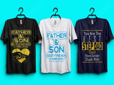 Father's Day T-shirt Designs tshirts typography dad tshirt tshirt design tshirtdesign print design graphicdesign