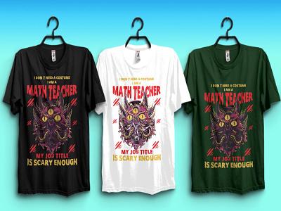 Halloween T-shirt for math teachers tshirtdesign typography print design tshirts halloween tshirt ideas cat tshirt for math teacher halloween design