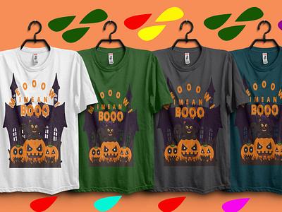 Meooow I Mean Booo tshirtdesign dad tshirt typography print design tshirts hand lettering cat halloween home halloween gift cat tshirt for halloween cat tshirt halloween party