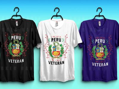 peruvian veteran tshirt