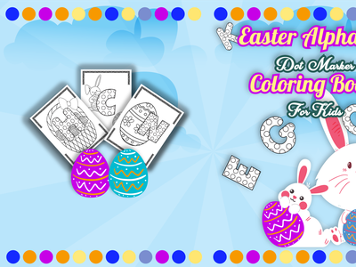 Easter Dot Coloring Book Cover interior coloringbook paperback cover kdp amazon kdp cover book cover