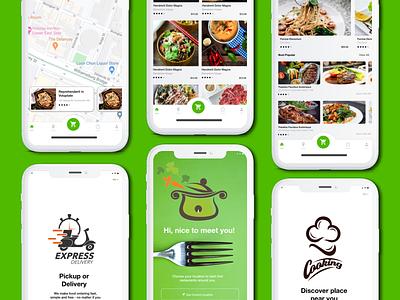 Ghost Kitchen App concept design food app food delivery app wireframe mobile app design ux design prototype android app design ios app design product design