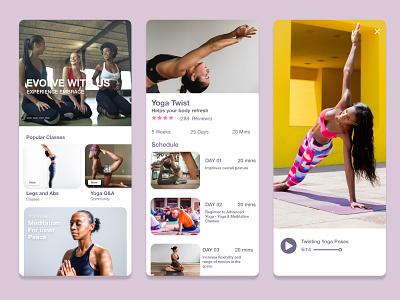Yogi Yoga Concept Design prototype branding concept design mobile app design product design