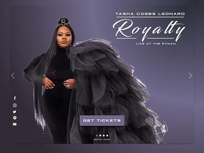 Tasha Cobbs Leonard Landing Page Design branding web design product design graphic design
