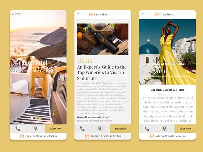 Grace Hotel Santorini Concept Design ui design traveling ux design branding concept design mobile app design product design