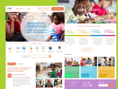 Fable Concept Web Design teaching children product design ui design prototype web design concept design