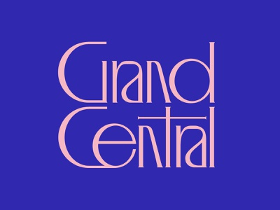 Grand Central type design modern serif lettering central nyc grand type branding typography logo