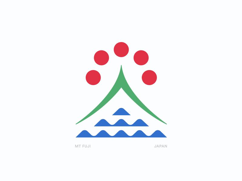 Mt. Fuji apparel outdoors fuji sun ocean water symbol mountain tokyo japan illustration typography logo
