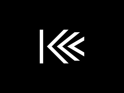 K arrow symbol lettermark movement transform motion modern lettering letter identity branding typography type logo k