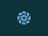Prosper design geometric circle wheel mark branding identity modern abstract symbol logo