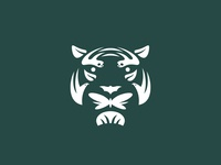 ReWild (Global Wildlife Conservation) animals forest conservation nonprofit nature tiger geometric lockup badge modern illustration branding typography logo