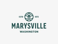 City of Marysville Identity seattle marysville crest ocean tree city logo city washington lockup badge modern illustration branding typography logo