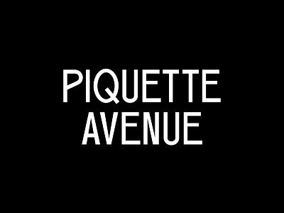 Piquette Avenue design badge symbol identity type monogram clothing apparel modern illustration branding typography logo