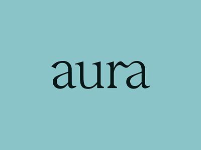 aura design modern serif font logotype serif ligature customtype illustration branding typography logo