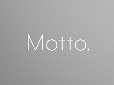 Motto lettering identity agency motto illustration branding typography logo