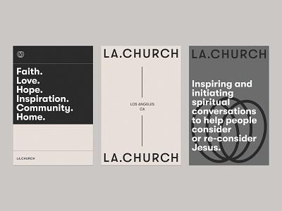 LA.CHURCH Poster Series los angeles identity poster lockup badge modern illustration branding typography logo