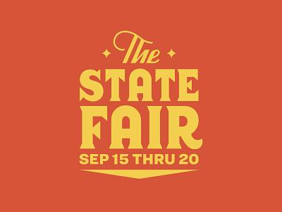 State Fair badge branding design logotype script lettering script fair lockup branding typography logo