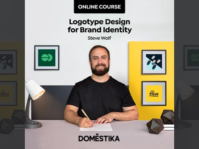 New Logotype Design Course! lettering brand identity tutorial class learning design domestika online course course logotype illustration branding typography logo