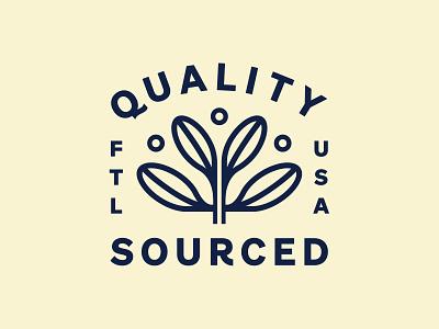 Wells Coffee illustration logo typography design identity florida branding type badge lockup plant coffee
