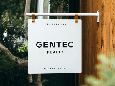 Gentec Realty sign realty texas dallas identity badge modern illustration branding typography logo