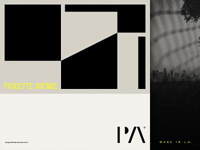 Piquette Avenue clothing california los angeles la modern illustration branding typography logo