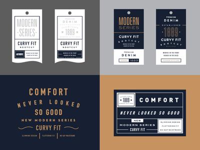 Lee Tag System jeans typography logo badge tag label branding retail denim layout modern die cut