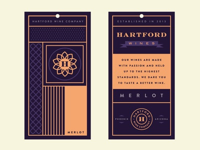 Wine Tag branding alcohol banner wine tag logo icon pattern badge crest h typography