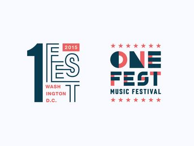 One Fest Logos star lockup one number typography branding logo america patriotic washington festival music