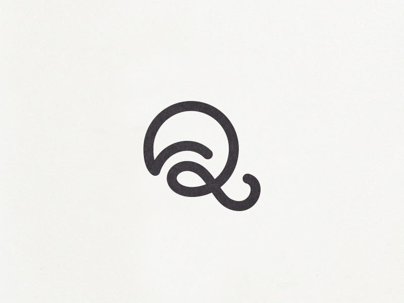 Q icon mark custom type typography font ligature motion monogram branding logo letter q