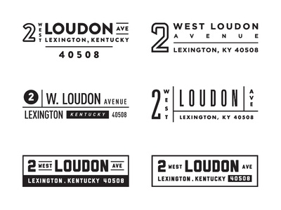 Address Lockups footer business stamp number lexington typography kentucky branding logo lockup address