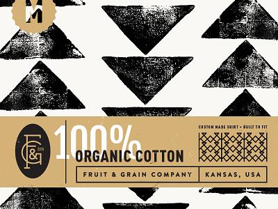 Fruit & Grain Clothing Label illustration branding typography stamp triangle texture pattern logo monogram kansas clothing label