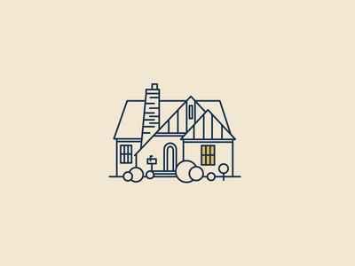 Shoal Creek Greenbelt texas austin geometric angle icon modern tree vintage retro illustration house home