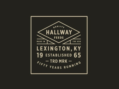 Hallway Feeds III kentucky packaging label badge typography diamond branding lockup logo