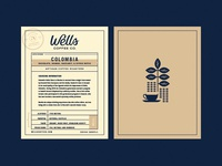 Wells Coffee Information Card