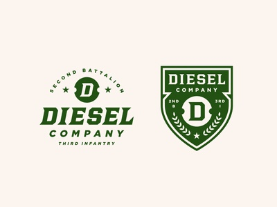 DIESEL Company patch monogram usa logo military army crest seal typography lockup badge