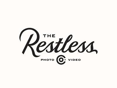 The Restless Co. video austin logotype identity letter business photography lockup typography branding logo script