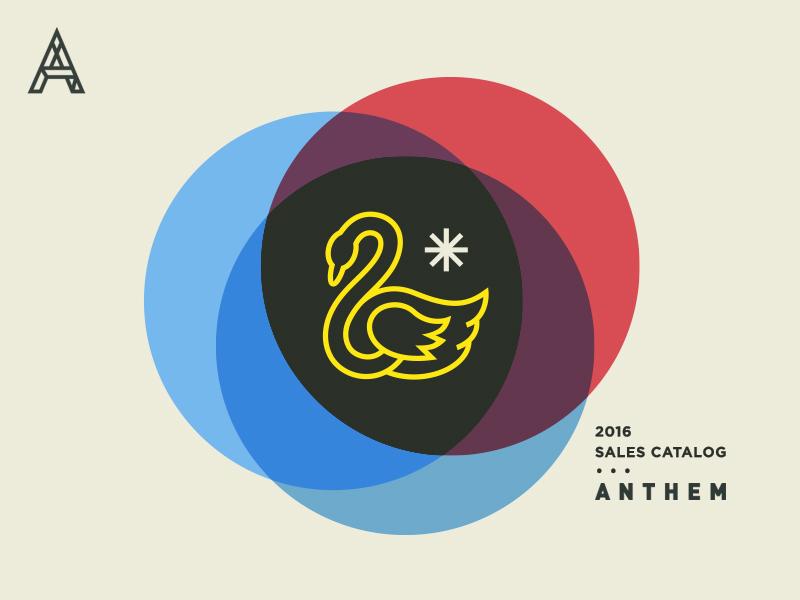 Anthem Cover No. I logo modern vintage overlay bird swan branding typography illustration cover