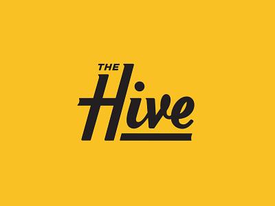 The Hive kettlebell branding typography fitness training hexagon icon logotype logo script bee