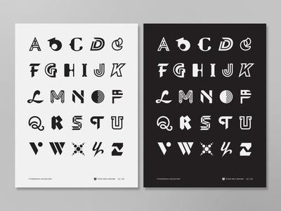 Alphabet symbol icon mark modern font print typography logo poster alphabet