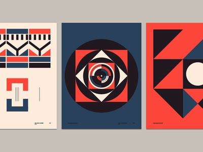 Transcendent Form Series triangle circle layout branding pattern form shape vintage illustration poster geometric abstract