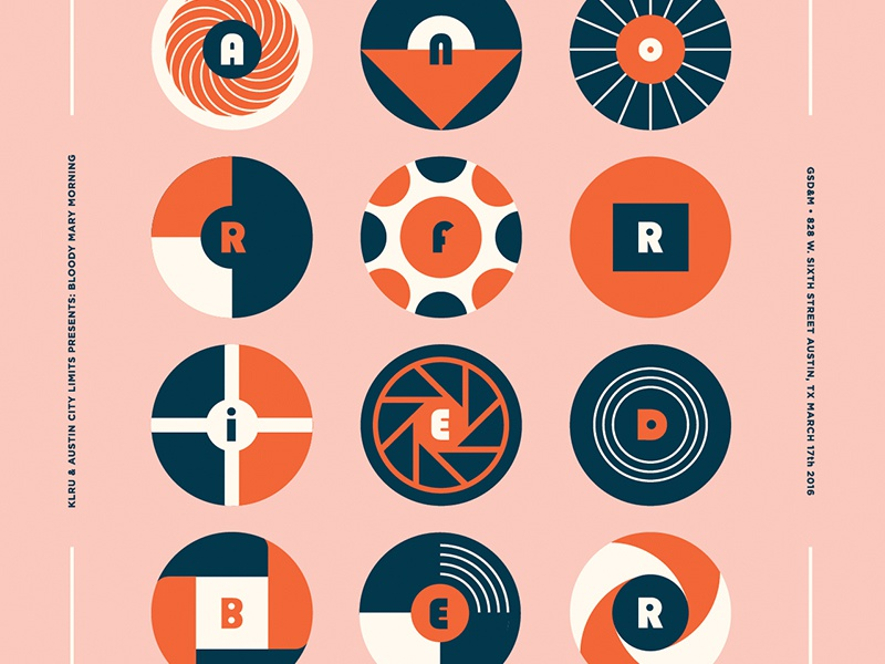 Eleanor Friedberger badge circle musician print sxsw illustration typography event music pattern austin poster